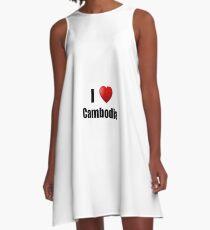 Cambodia I Love Country Lover Pride Funny Gift Idea A-Line Dress