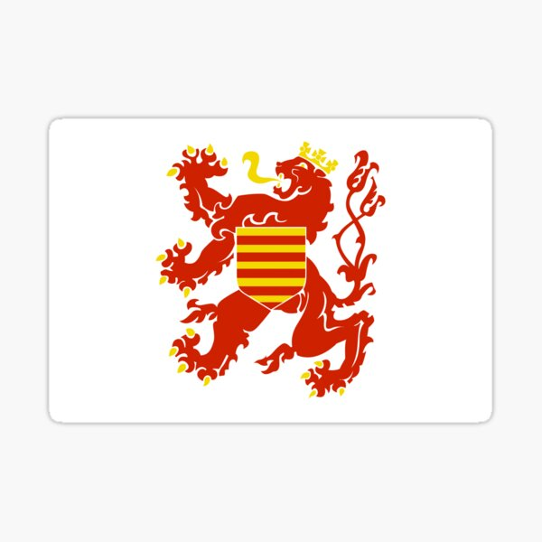 Flag of Limburg Belgium Sticker