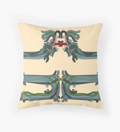 Quetzacoatl: The Feathered Serpent Throw Pillow