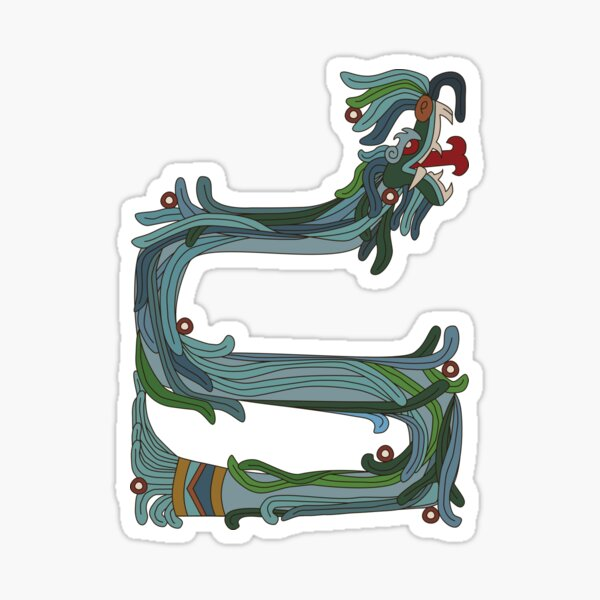 Quetzacoatl: The Feathered Serpent Sticker