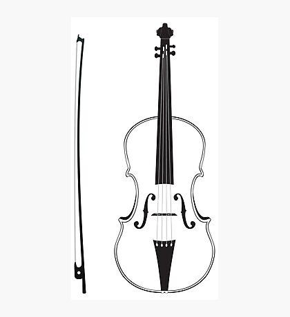 Violine Silhouette Fotodruck