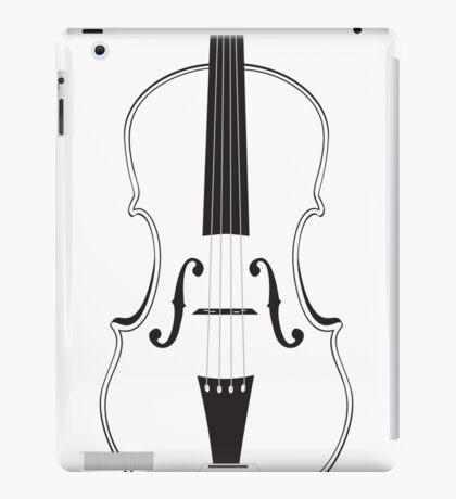 Violine Silhouette iPad-Hülle & Klebefolie