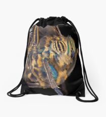 Butterfly - Yellow-edged Giant Owl Drawstring Bag