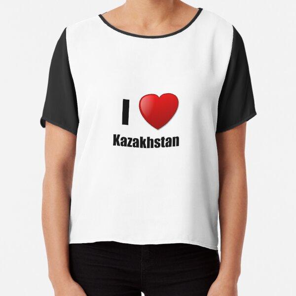 I Love Heart Kazakhstan Black Kids Sweatshirt