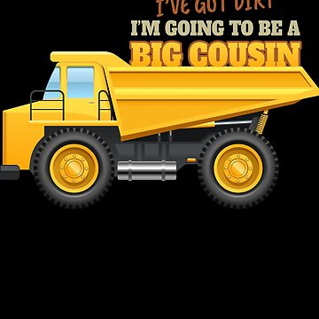 Big Cousin Gift Dump Truck Construction New Baby by modernmerch