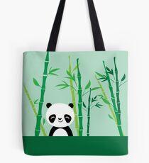 Cute: Panda with Bamboo Tote Bag