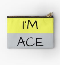 AROMANTIC FLAG I'M ACE ASEXUAL T-SHIRT Studio Pouch
