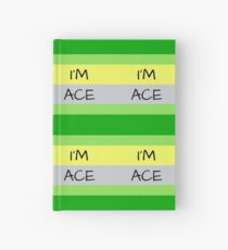 AROMANTIC FLAG I'M ACE ASEXUAL T-SHIRT Hardcover Journal