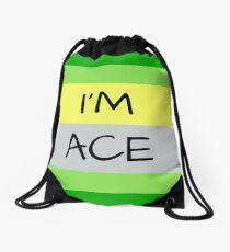 AROMANTIC FLAG I'M ACE ASEXUAL T-SHIRT Drawstring Bag