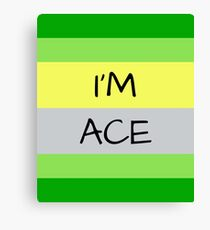 AROMANTIC FLAG I'M ACE ASEXUAL T-SHIRT Canvas Print