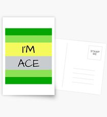 AROMANTIC FLAG I'M ACE ASEXUAL T-SHIRT Postcards