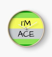 AROMANTIC FLAG I'M ACE ASEXUAL T-SHIRT Clock