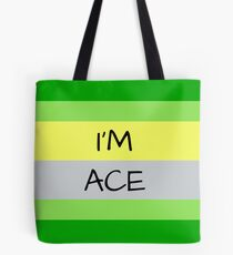 AROMANTIC FLAG I'M ACE ASEXUAL T-SHIRT Tote Bag