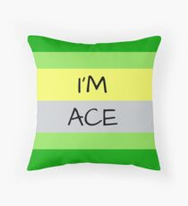 AROMANTIC FLAG I'M ACE ASEXUAL T-SHIRT Throw Pillow