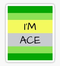 AROMANTIC FLAG I'M ACE ASEXUAL T-SHIRT Sticker