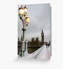 Big Ben in the snow Greeting Card