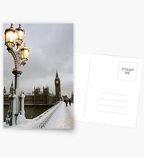 Big Ben in the snow Postcards