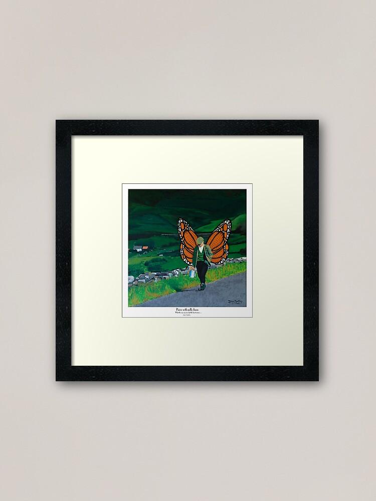 Alternate view of Pairic with milk churn Framed Art Print
