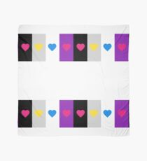 Panromantic Hearts Asexual Flag Stripes Asexual T-Shirt Scarf