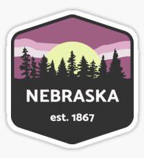Nebraska Moonlight Sticker