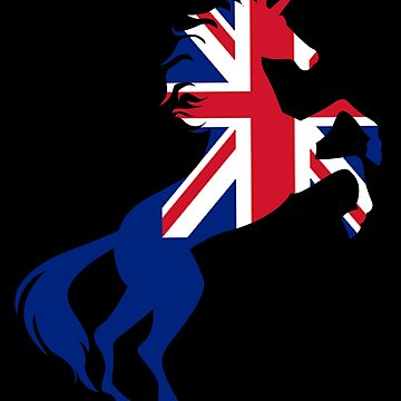Unicorn The United Kingdom Flag Gift by Reutmor
