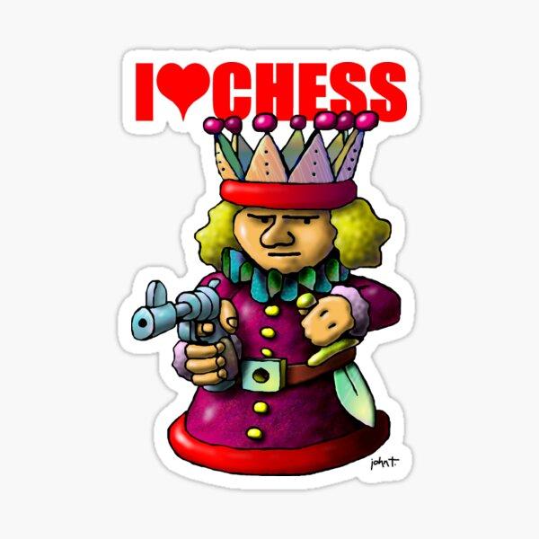 I Love Chess - King Sticker