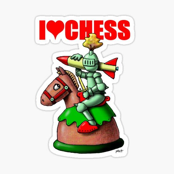 Chess - The Knight Sticker