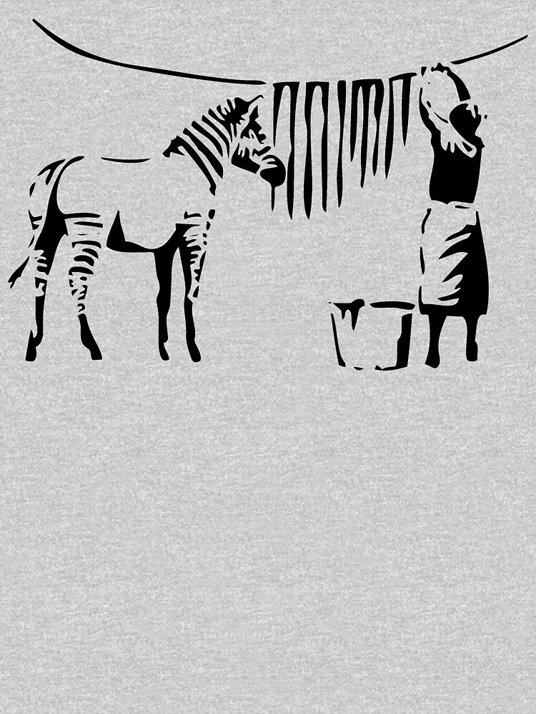 Banksy, A Woman Washing Zebra Stripes Artwork Reproduction, Posters, Tshirts, Prints by clothorama
