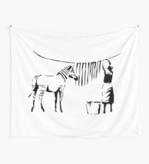 Banksy, A Woman Washing Zebra Stripes Artwork Reproduction, Posters, Tshirts, Prints Wall Tapestry