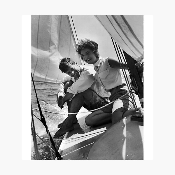 Jackie and Jack on a Boat  Photographic Print