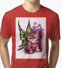 """Winged Kitty"" by Katie Calico Tri-blend T-Shirt"