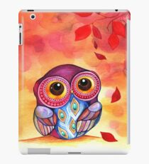 Owl's First Fall Leaf iPad-Hülle & Klebefolie