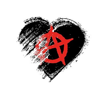 Grungy I Love Anarchy Heart Flag by madra