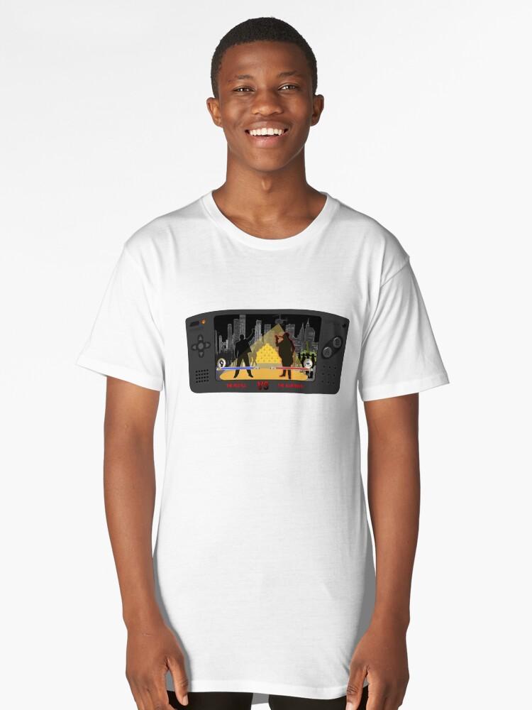 The People VS The Illuminati (Arcade Game). Long T-Shirt Front