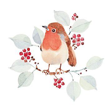 Robin in Autumn by jjsgarden