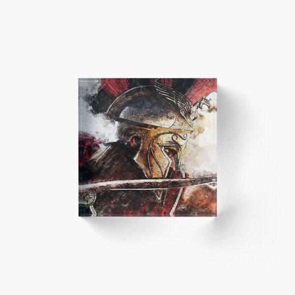 Spartan Hoplite Acrylic Block