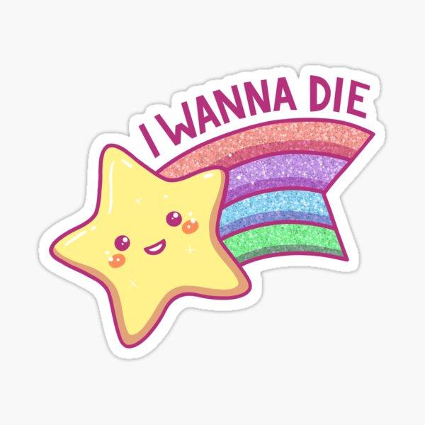 Rainbow Shooting Star Sticker