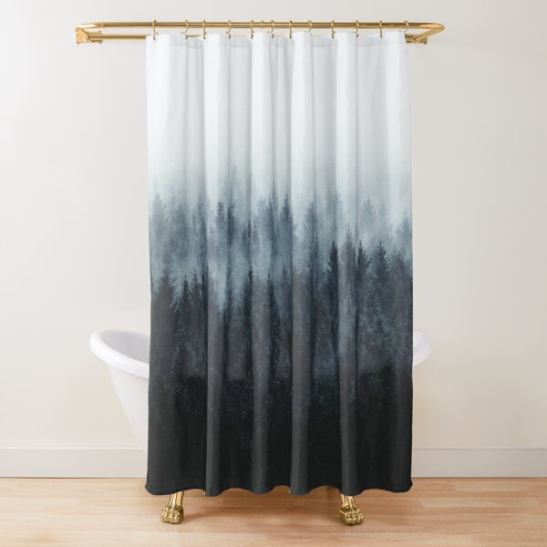 High And Low Shower Curtain