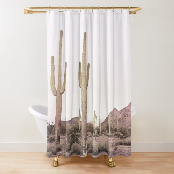 Two Cactus In The Desert Shower Curtain