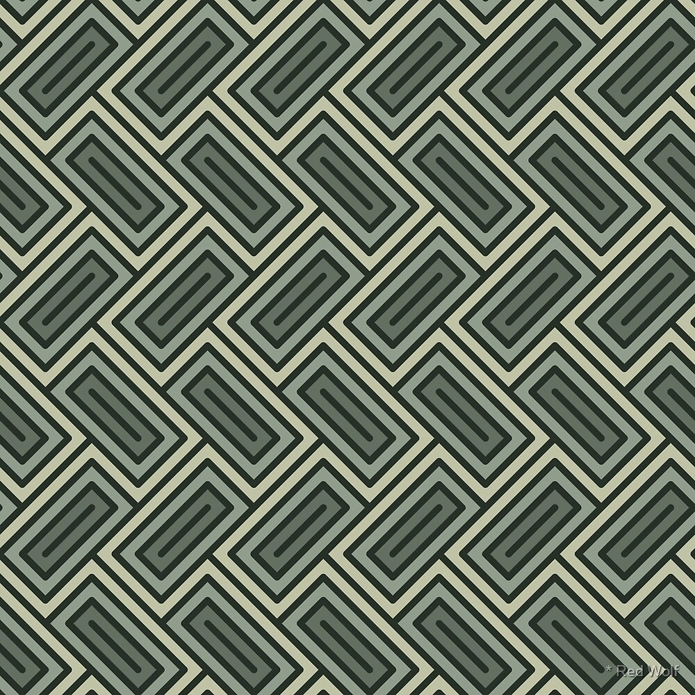 Geometric Pattern: Falling Rectangle: Forest by * Red Wolf