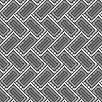 Geometric Pattern: Falling Rectangle: Grey by redwolfoz