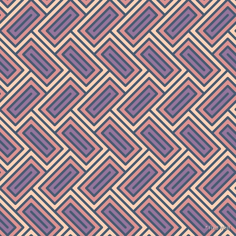 Geometric Pattern: Falling Rectangle: Sunset by * Red Wolf