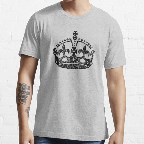 Distressed Grunge Keep Calm Crown Essential T-Shirt