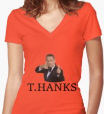 Thanks Tom Hanks Women's Fitted V-Neck T-Shirt