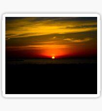 Sunset at Galveston Island State Park Sticker