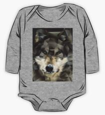 Abstract Wolf One Piece - Long Sleeve