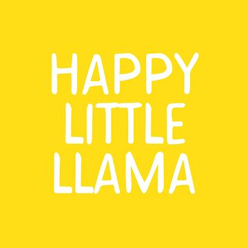 Happy Little Llama by teesaurus