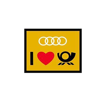 Audi DTM Number Plate design by GetItGiftIt