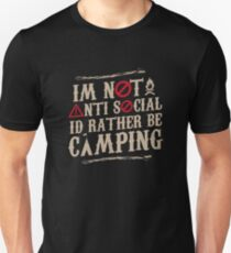Rather be camping gift Unisex T-Shirt