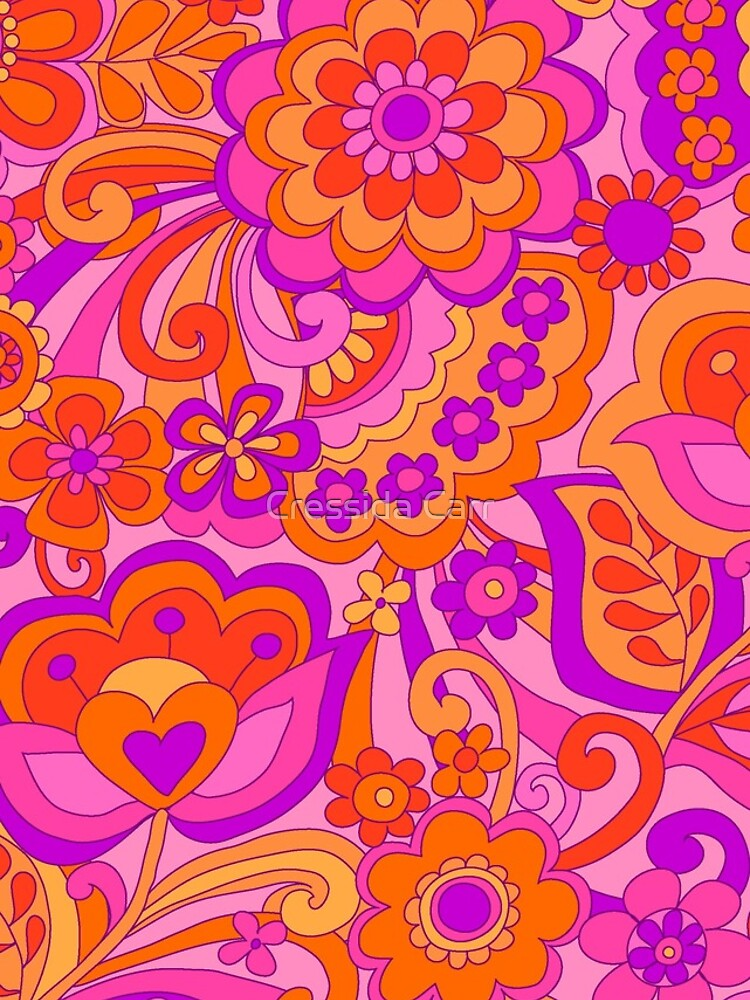 Flower Power. 60's inspired happy design by Cressidacarr